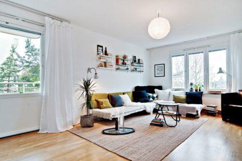 DIY loungebank in de woonkamer