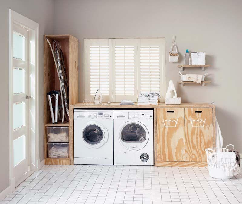 DIY underlayment wasmachine kast
