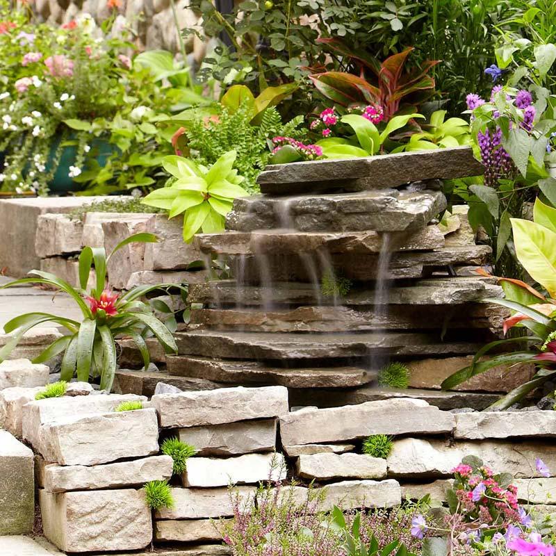 DIY waterval tuin family handyman