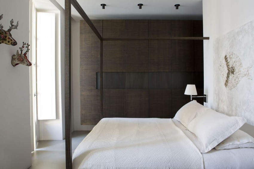 Warme Rustieke Badkamer : Warme tinten in een strakke italiaanse slaapkamer