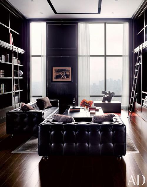 Donkere tinten in huis