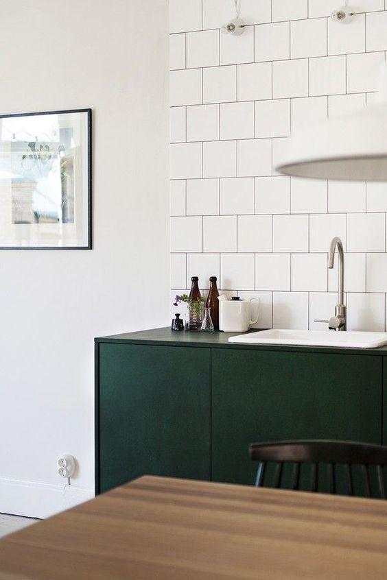 donkergroene moderne keuken