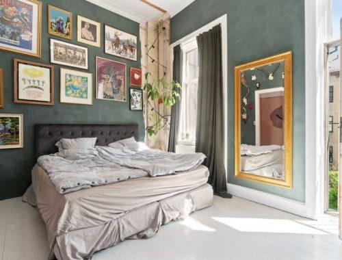 Eclectische slaapkamer van Sofie en Joakim