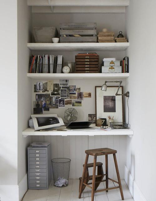 Een klein maar fijne werkplek thuis