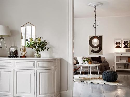Een klein romantisch appartement in Zweden