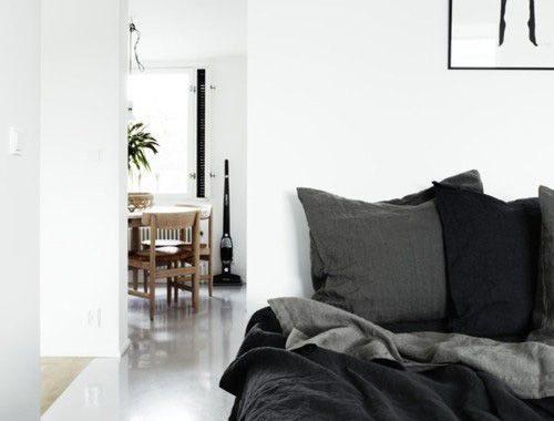 Een winterse slaapkamer