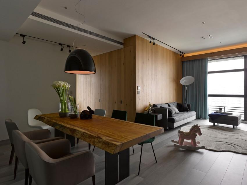 Eettafel In Woonkamer : Op maat gemaakte kast in een l vormige woonkamer