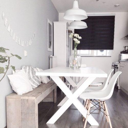 Eettafel wit schilderen