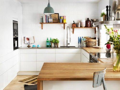 Eiken houten keukenblad