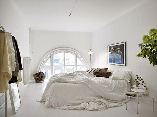 Elegante witte slaapkamer