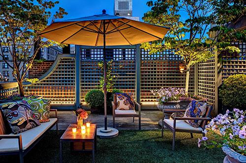 Exotische terrastuin van appartementExotische terrastuin van appartement