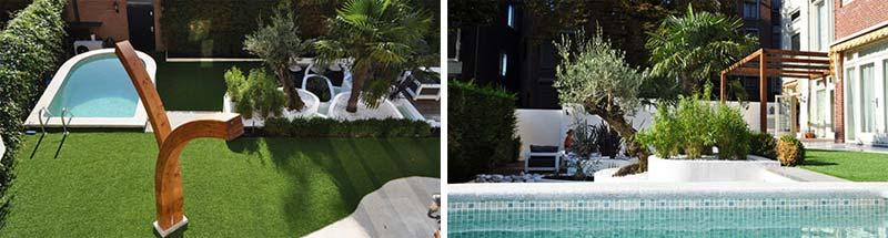 Exotische tuin met zwembad