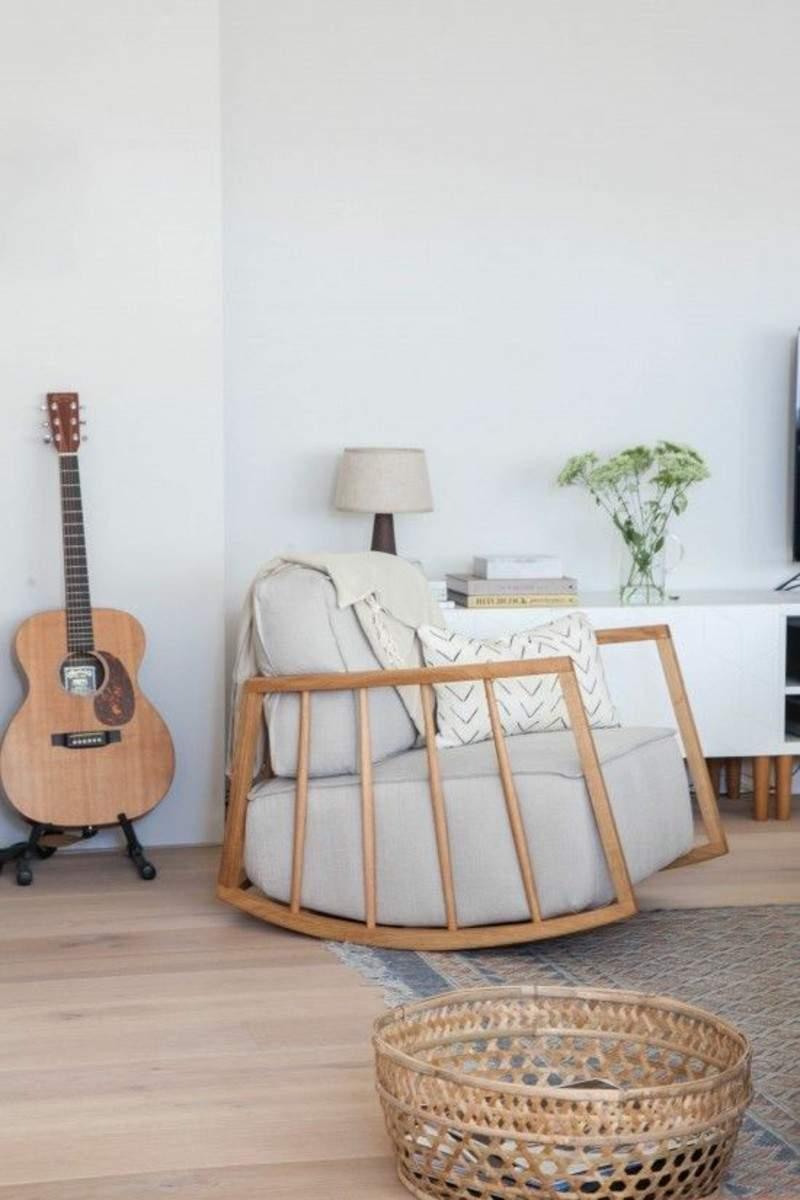 extra zitplek woonkamer schommelstoel