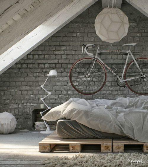 Fiets ophangen in de slaapkamer