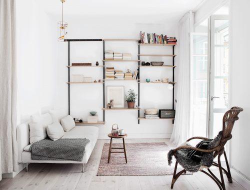 Fijne kleine woonkamer met open keuken