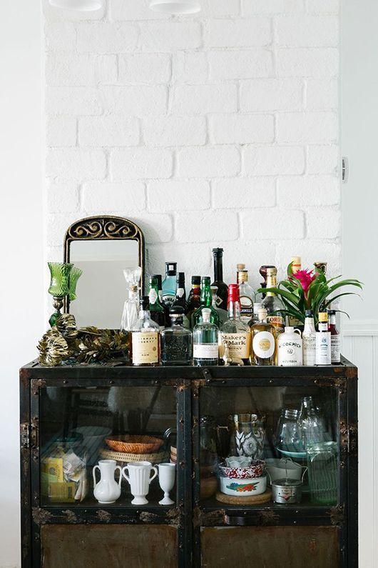 Flessen drank als decoratie