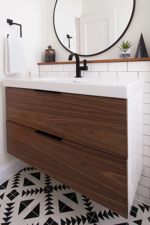 Frisse vintage badkamer