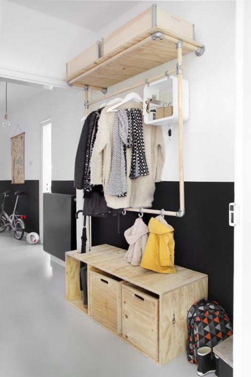 Garderobekast in de hal