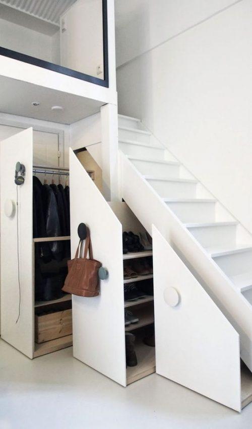 Garderobekast trapkast