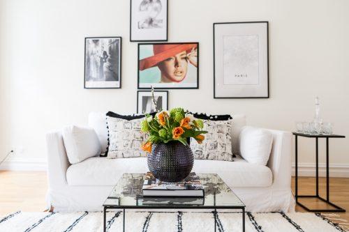 Gerenoveerde klassieke woonkamer