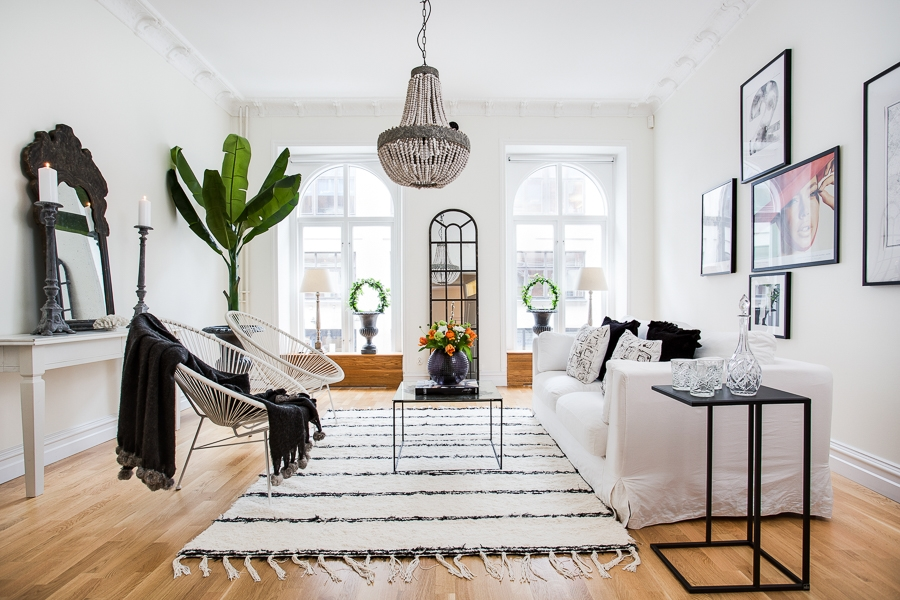Authentieke Details Woonkamer : Gerenoveerde klassieke woonkamer huis inrichten