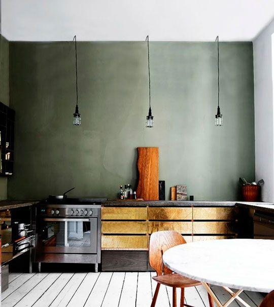 Gouden keukenkasten