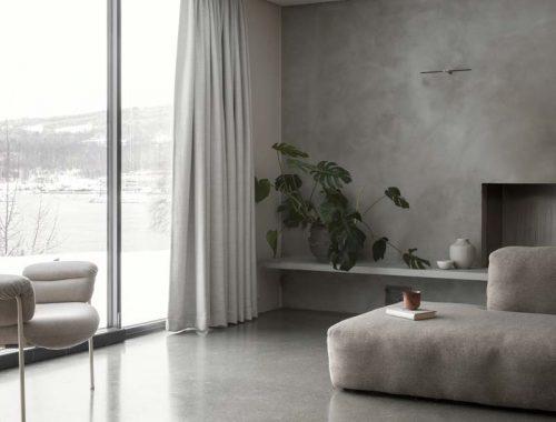 grijs interieur betonstuc