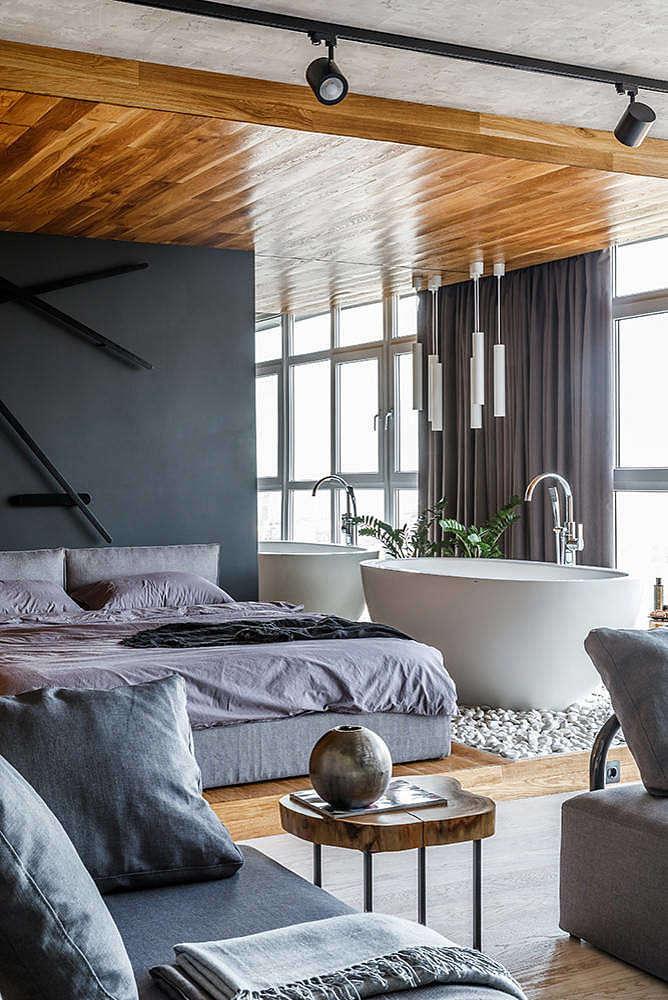 grijs interieur loft