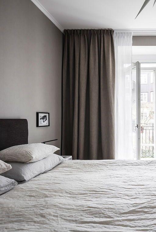 grijze gordijnen slaapkamer