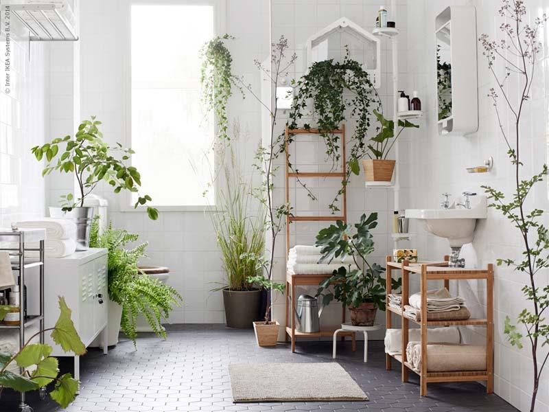 Groene IKEA badkamer