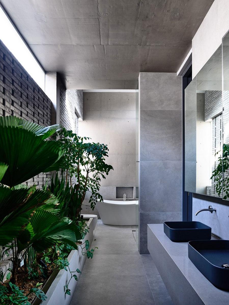 grote badkamers voorbeelden betonstuc