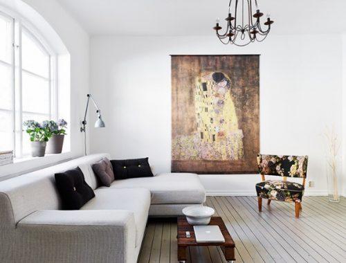 Grote schilderij in huis