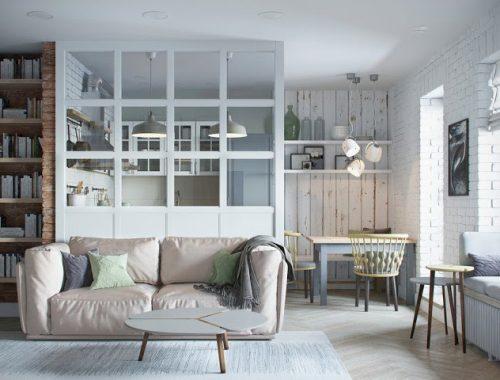 half-open-keuken-glazen-transparante-scheidingswand