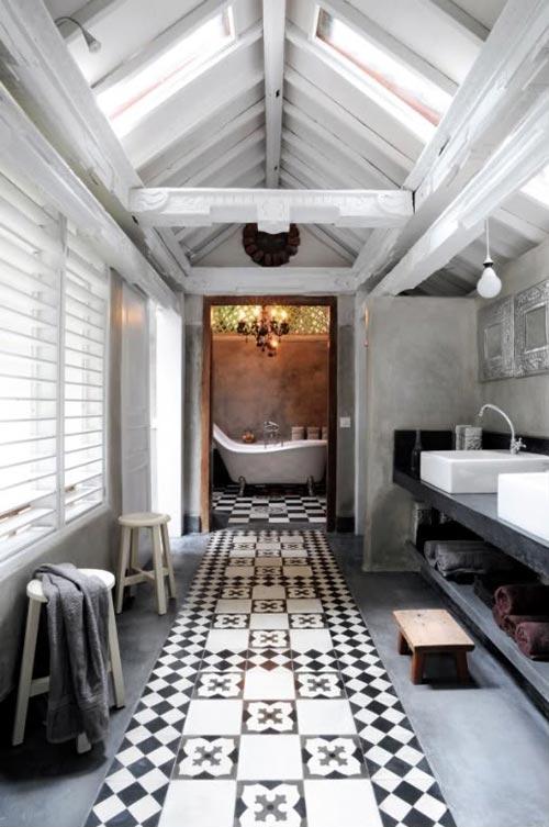 Hammam sfeer in badkamer