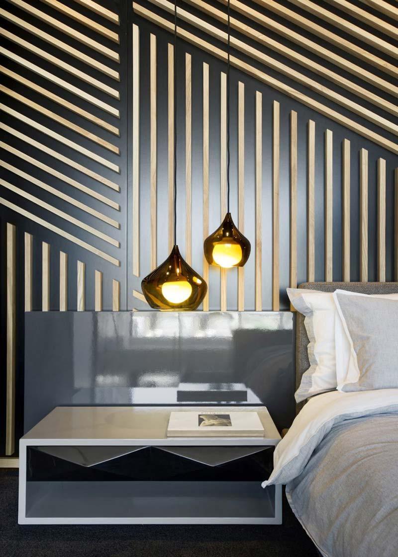Hanglamp boven nachtkastje