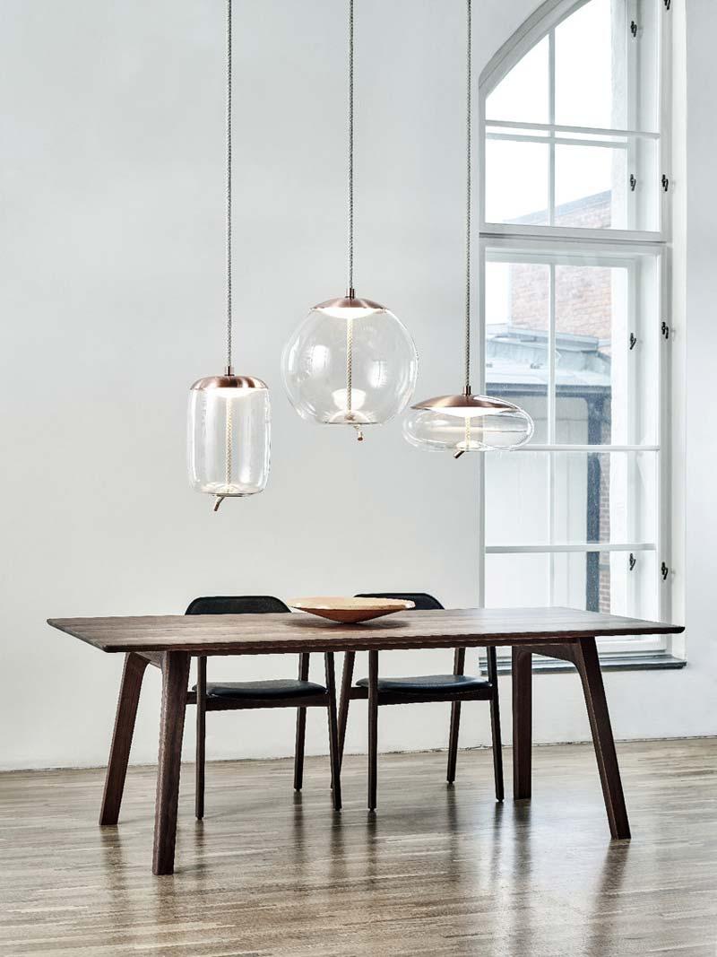 Glazen hanglamp bol Brokis KNOT Sfera Hanglamp