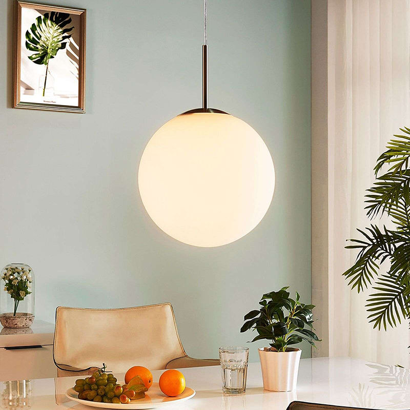 hanglamp glazen bol lindby marike