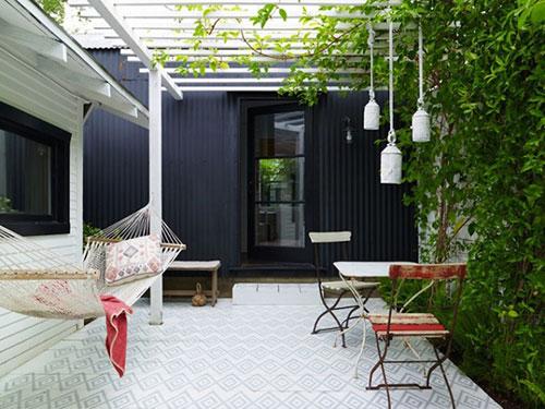 Hangmat in de tuin