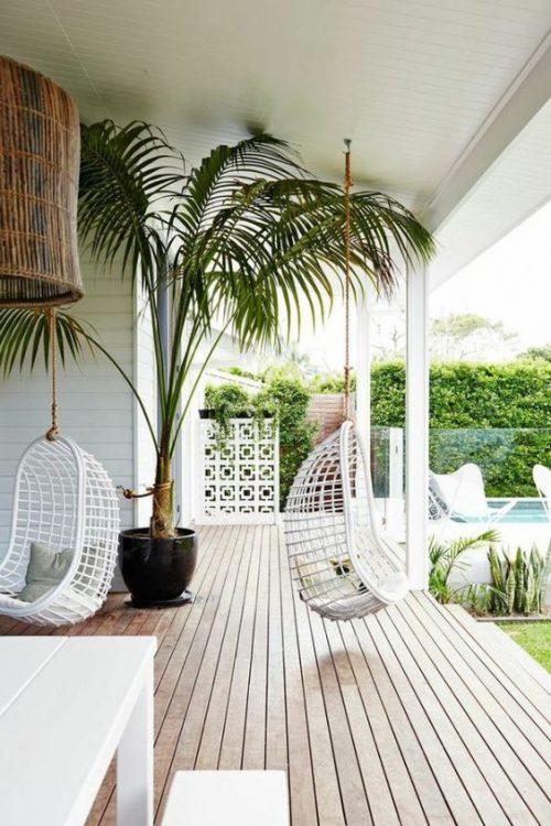 Hangstoel veranda