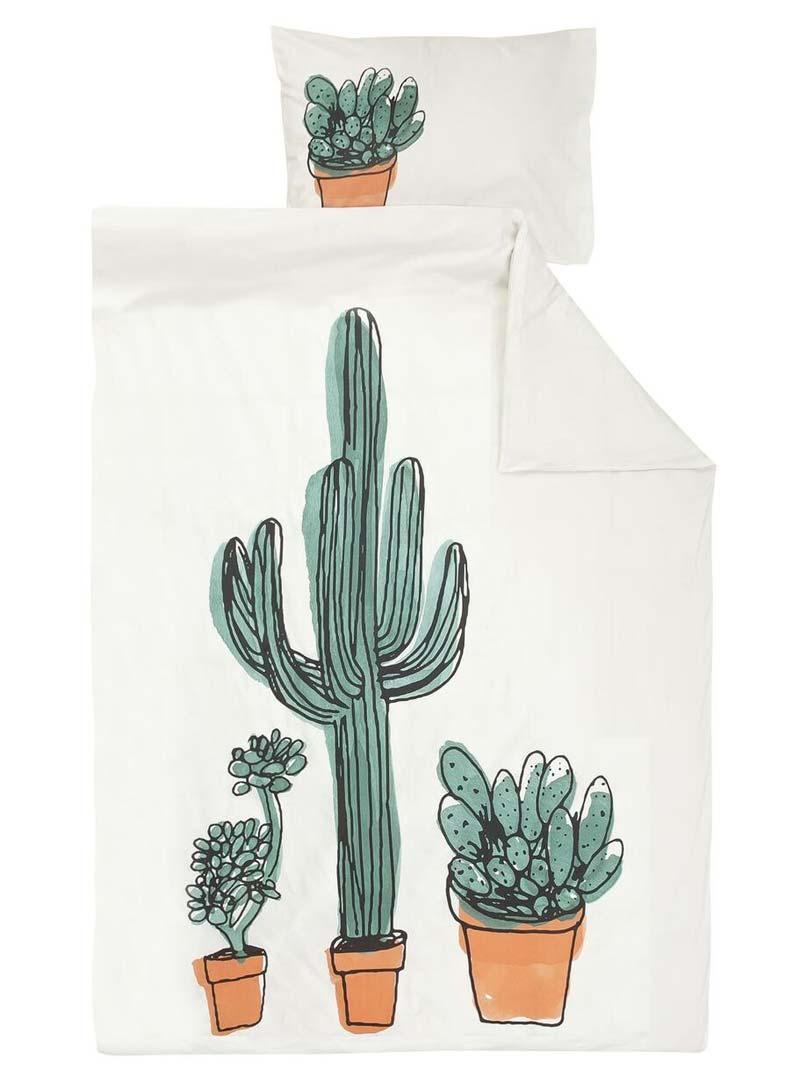 hema dekbedovertrek cactus