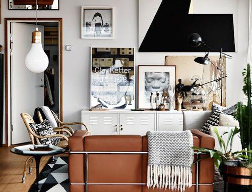 Het huis van een interieur designer