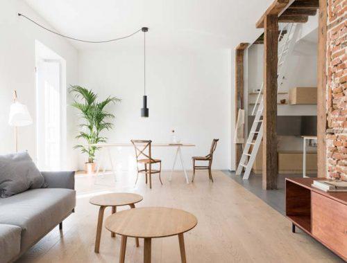historische elementen gecombineerd met een modern minimalistisch interieur