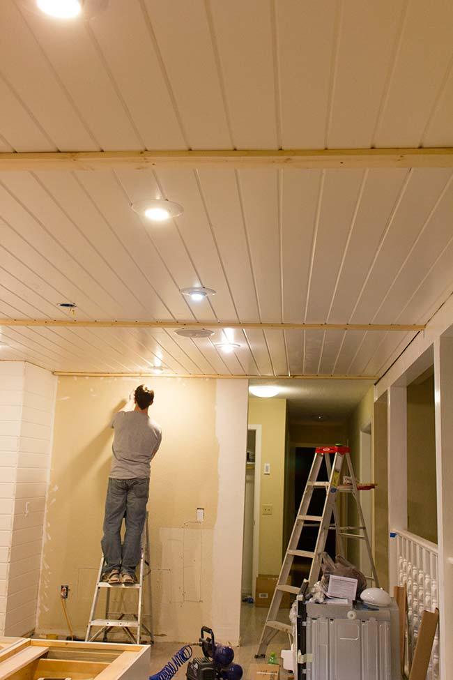 houten balken maken aan plafond 1