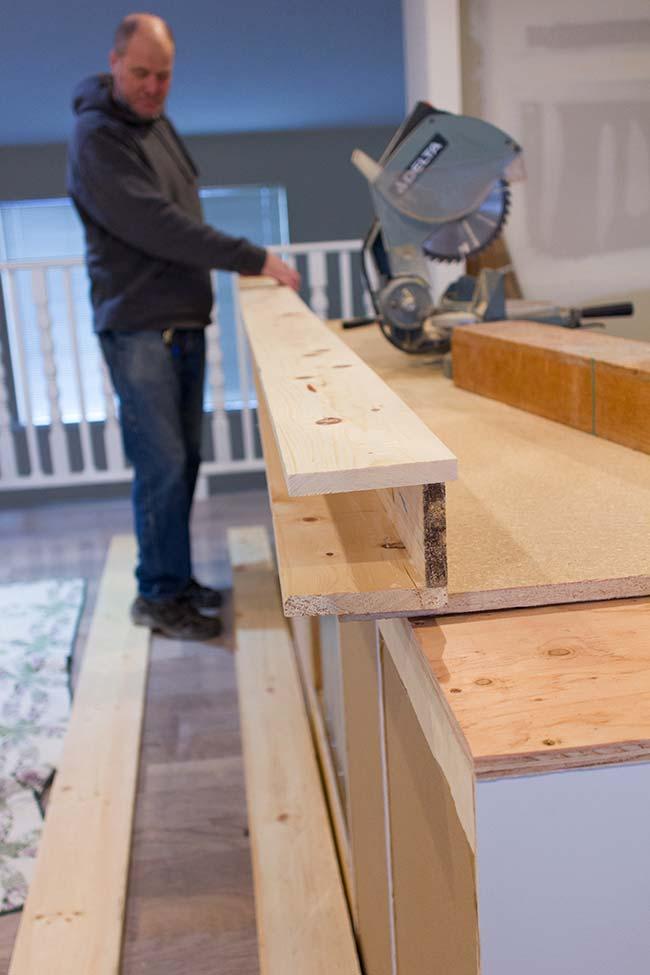 houten balken maken aan plafond