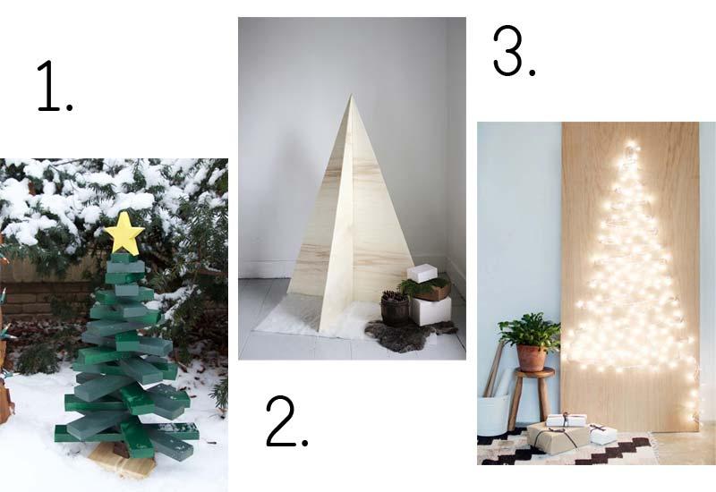 Houten kerstboom maken