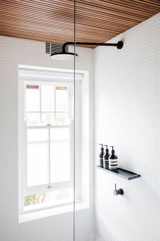 Houten plafondbekleding
