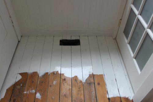 Witte Houten Vloer : Houten vloer in de keuken wit schilderen