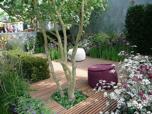 Houten vlonder tuin