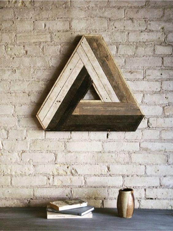 houten-wandecoratie-driehoek
