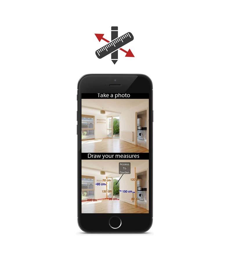 huis inrichten app photo measures
